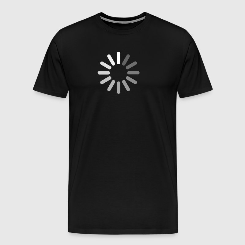 Loading bar, apple, circle, download, progress - T-shirt Premium Homme