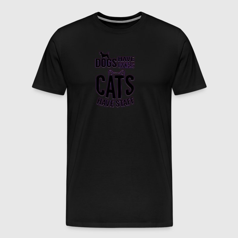colored cats designs Dogs have owners cats have s - Men's Premium T-Shirt