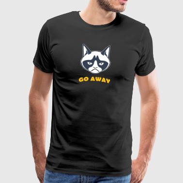 Grumpy cat go away coloful - T-shirt Premium Homme