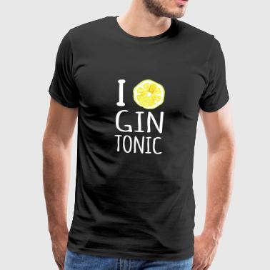 I Love Gin Tonic Party Celebrate Gift - Men's Premium T-Shirt