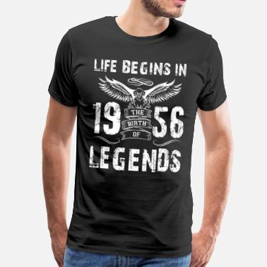 Sixty Life Begin In 1956 Legends - Men's Premium T-Shirt