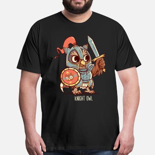 Animal Chevalier Chemise Shirt Pun Premium Chouette Homme T q5ww6Wp7