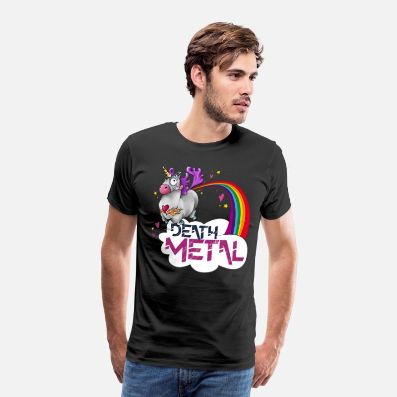 Death Metal T-shirts - Death Metal Unicorn - T-shirt premium Homme noir