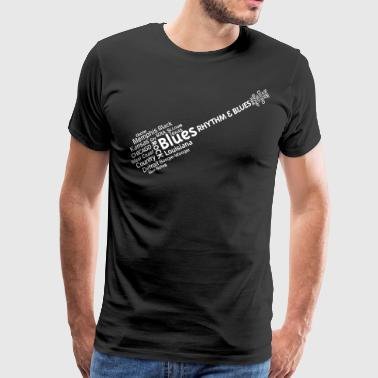 Blues tag cloud - Männer Premium T-Shirt