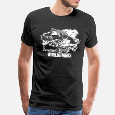 Wargaming World of Tanks - Battlefield white - T-shirt Premium Homme