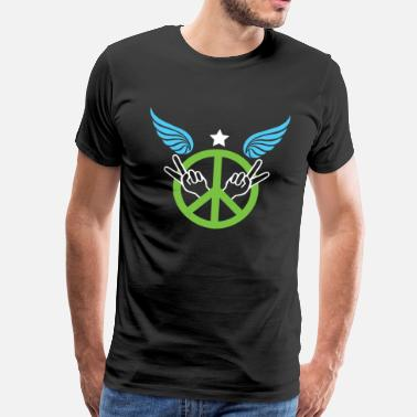 Love Dove Peace, freedom, love - Men's Premium T-Shirt