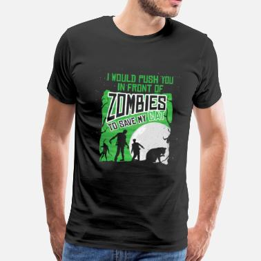 Cat Rescue Cat rescue from zombies - Men's Premium T-Shirt