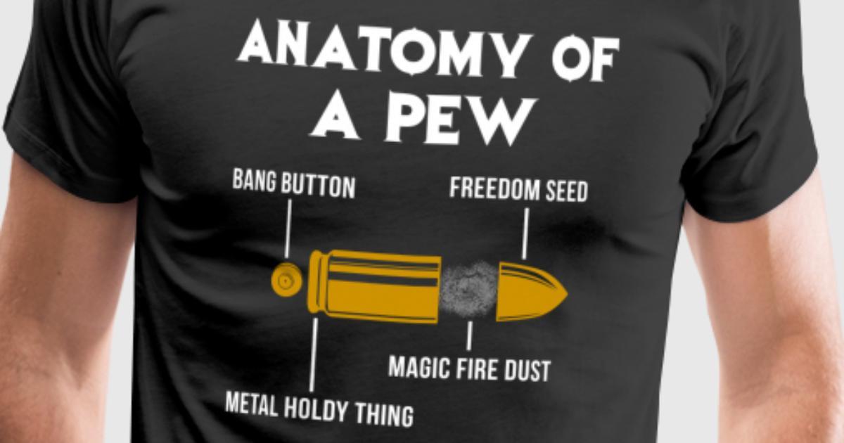 Anatomía de un rifle de pistola pew munición bala por | Spreadshirt