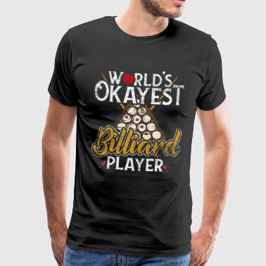 Billard Queue Billardkugel Snooker Pool - Männer Premium T-Shirt