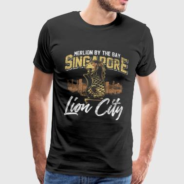 State Capital Singapore flag lion Asia country city-state - Men's Premium T-Shirt