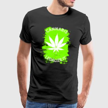 Legalize it Cannabis - legalisera marijuana THC - Premium-T-shirt herr
