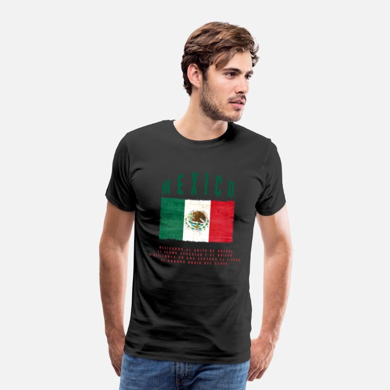 Bandera T-Shirts - Mexican Flag Bandera Mexico - Men's Premium T-Shirt black