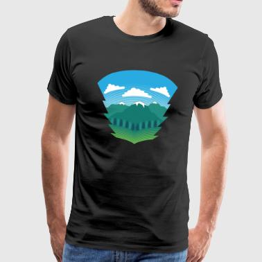 Nature Sight - natur træ rødder liv rekreation - Herre premium T-shirt