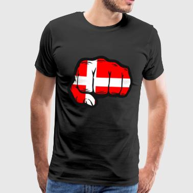 Denmark fist flag country Scandinavia - Men's Premium T-Shirt