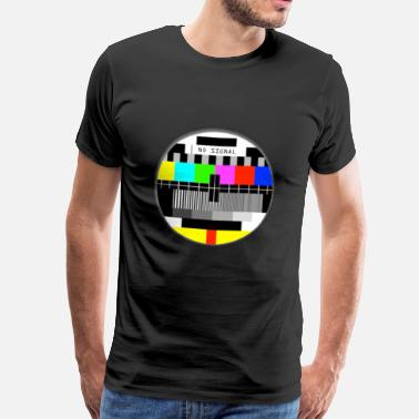 Signal NO signal ancienne TV T-shirts no signal old TV - T-shirt Premium Homme