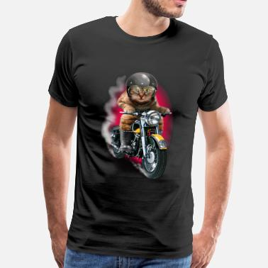 Bikes And Cars Collection CAT RIDER - Men's Premium T-Shirt
