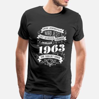 Birth Year 3.1.1963 The birth of an icon - Men's Premium T-Shirt