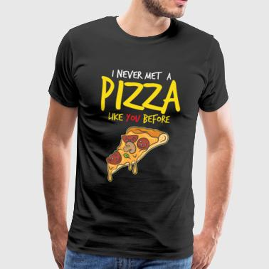 Italia Pizza Italy Food Cheese Dish Dish Tomato - Men's Premium T-Shirt