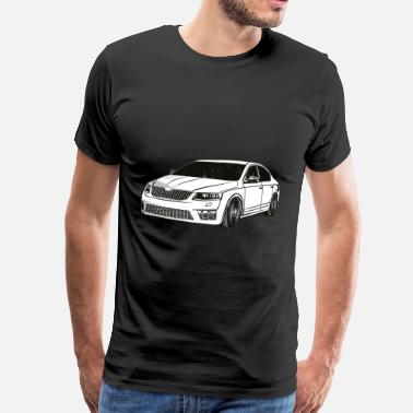 Limo Octavia 3 RS Limo-afstemming - Mannen Premium T-shirt