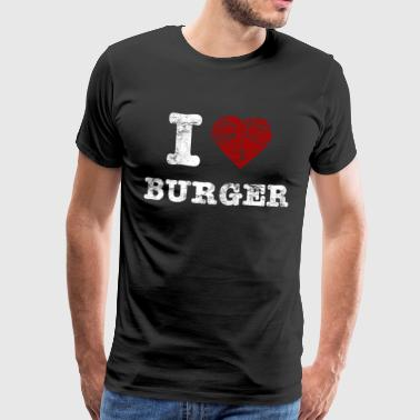 i love burger vintage light - Camiseta premium hombre