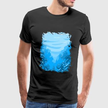 underwater aquarium sea ocean lake coral reef - Men's Premium T-Shirt