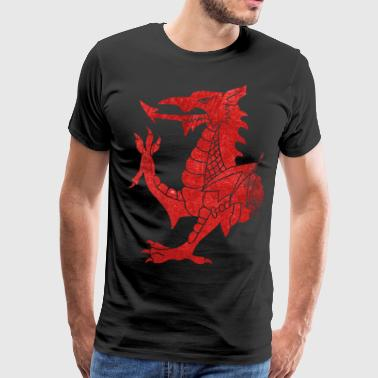 Welsh Dragon Rampant - Men's Premium T-Shirt