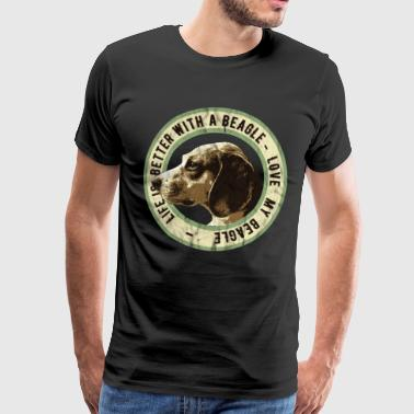 Collie Beagle for Ever, Beagle Dog Lover Gift - Herre premium T-shirt