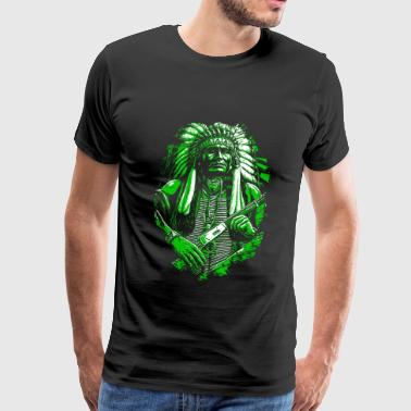 Indian chief Native American - Mannen Premium T-shirt