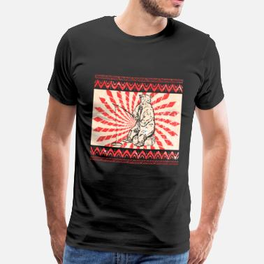 Rocky Mountains Bear Brown Bear Rocky Mountains Animal Grizzly Vintage - Camiseta premium hombre