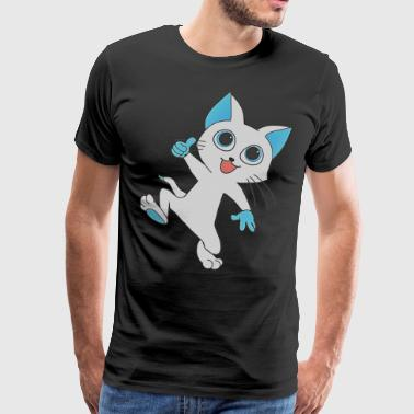 Cartoon kat kitten kitty kat - Mannen Premium T-shirt