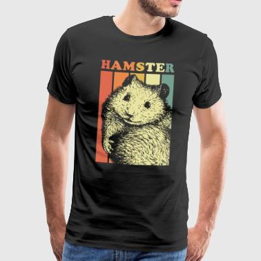 Hamster Retro Rodent Gift Zoo Animal Park - Men's Premium T-Shirt