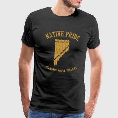 Native Pride Native American Panpipe - Camiseta premium hombre