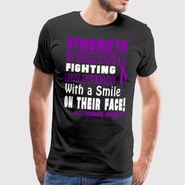 Rett Syndrome Awareness! Fighting with a Smile! - Men's Premium T-Shirt
