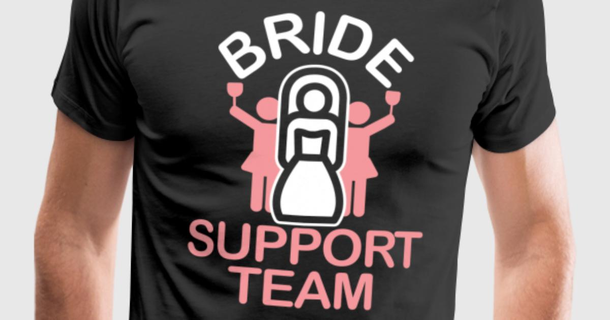Jga bride support team t shirt spreadshirt for I support two teams t shirt