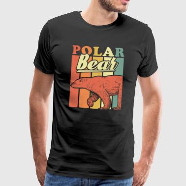 Couleur rectangle Ours polaire - T-shirt Premium Homme