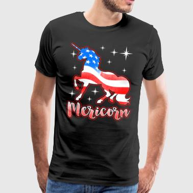 Patriotiske Mericorn - Unicorn Independence Day - Herre premium T-shirt