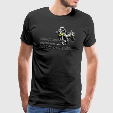 Dualsport it's on my list (two riders) - Men's Premium T-Shirt