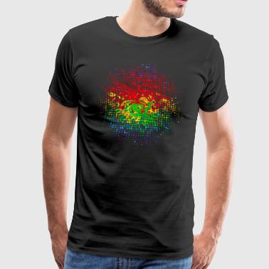 Psychedelisch Party Musik Farbe, Farben, Holi Festival, Psychedelic, Spirale - Männer Premium T-Shirt