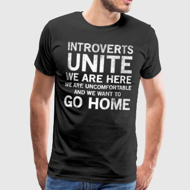 Introverts Unite Anti Social T-shirt - Men's Premium T-Shirt