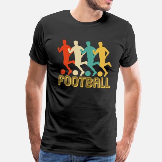 7d143174c Men s Premium T-ShirtRetro Pop Art Football Gifts for Footballers. SALE