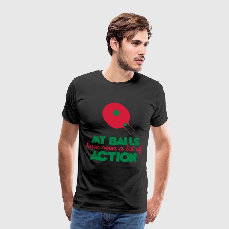 my balls have seen a lot of action - Premium-T-shirt herr
