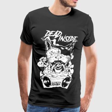 cat blaster DEAD INSIDEE - Men's Premium T-Shirt