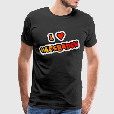 I love Wiesbaden - Men's Premium T-Shirt
