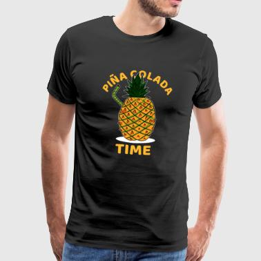 Bartender Funny Pina Colada Time Cocktail lover Gift - Men's Premium T-Shirt