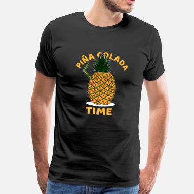 Cocktail Bartender Pina Colada Time Cocktail lover Gift - Men's Premium T-Shirt