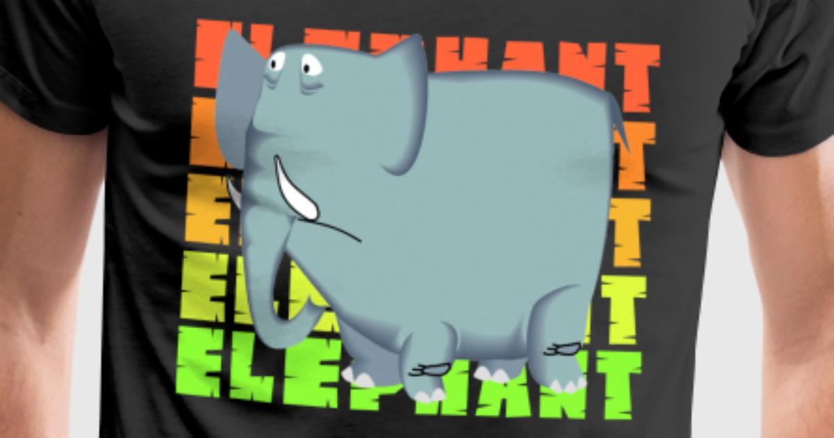 Elefant Stoßzähne Rüssel zoo afrika kind geschenk von CrazyShirts ...