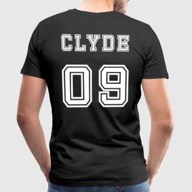 Valentine's Day Matching Couples Clyde Number - Mannen Premium T-shirt