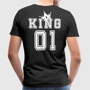 Partnershirt Valentinstag Partnershirt King Krone 01 - Männer Premium T-Shirt
