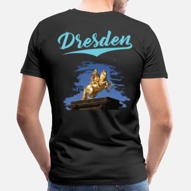 Cost City of Dresden - Goldener Reiter - Limited Edition - Men's Premium T-Shirt