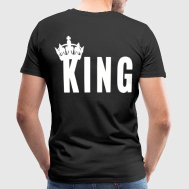 King Couple Love Loved Husband Queen Love Queen - Mannen Premium T-shirt
